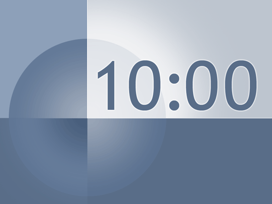 10 minute timer slide template for powerpoint 2003 or