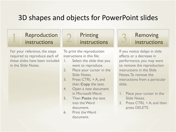 3-d Shapes And Objects For Powerpoint Slides