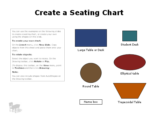 Classroom Or Discussion Group Seating Charts