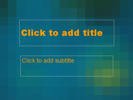 Blue Pixels Design Slides