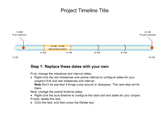 Timeline Metric Template For Visio Or Newer Inside Project - Microsoft office project timeline template