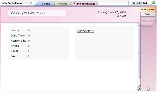 Download Phone message notes