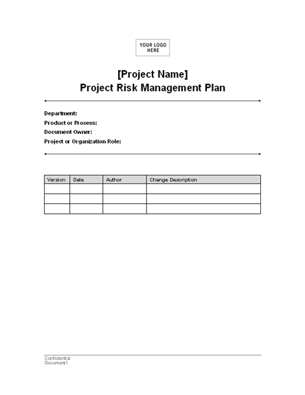 project risk management plan template for word 2003 or newer inside project management cart. Black Bedroom Furniture Sets. Home Design Ideas