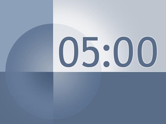 5 Minute Timer Slide