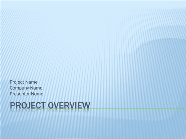 Download Project overview presentation