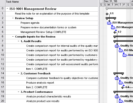 Iso 9001 management review template for project 2007 or for Iso 9001 procedures templates