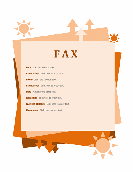 Download Fax cover sheet