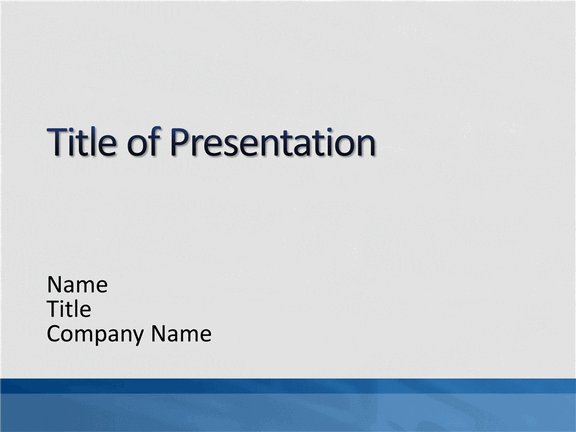 Elegant Grey With Blue Bar Ppt Slides Design Template For Powerpoint