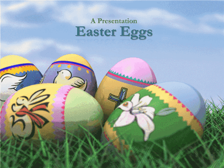 Easter Eggs Design Slides