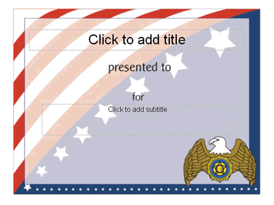 Download Award certificate (American flag design)