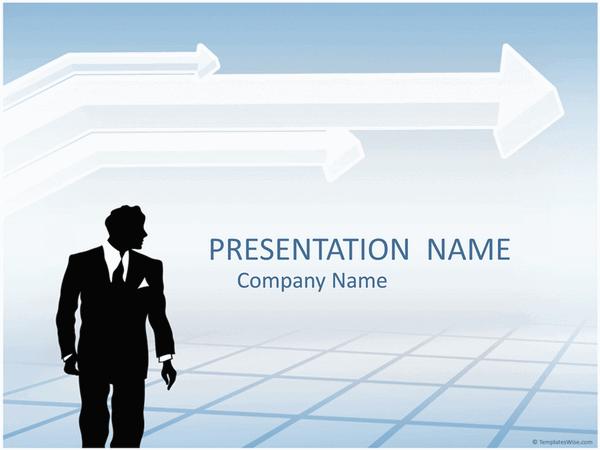 Businessman Silhouette Presentation