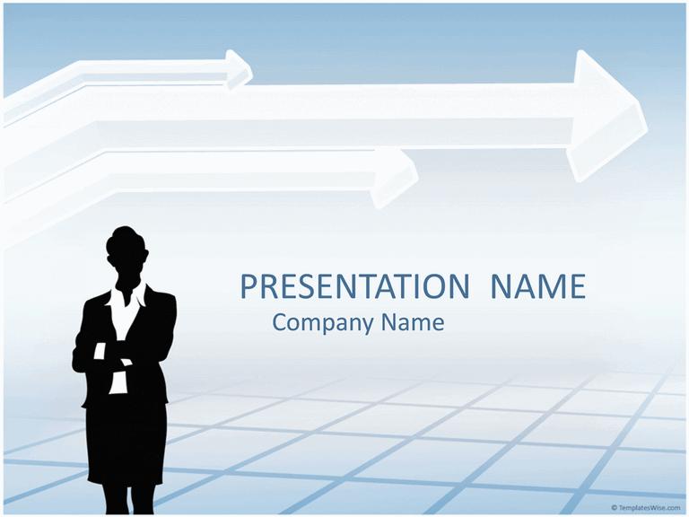 Businesswoman Silhouette Presentation