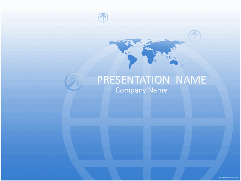 Download Worldwide business presentation (blue)