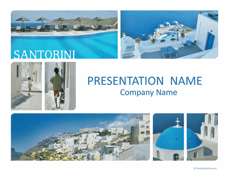 Santorini Resort Travel Presentation