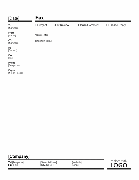 Business Fax Cover Letter Examples