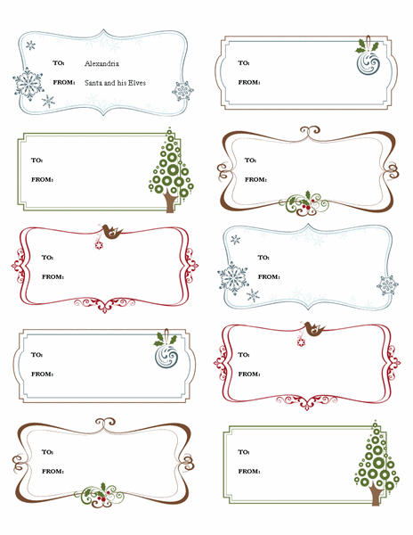 Download Gift Labels Gift Certificate Template Free