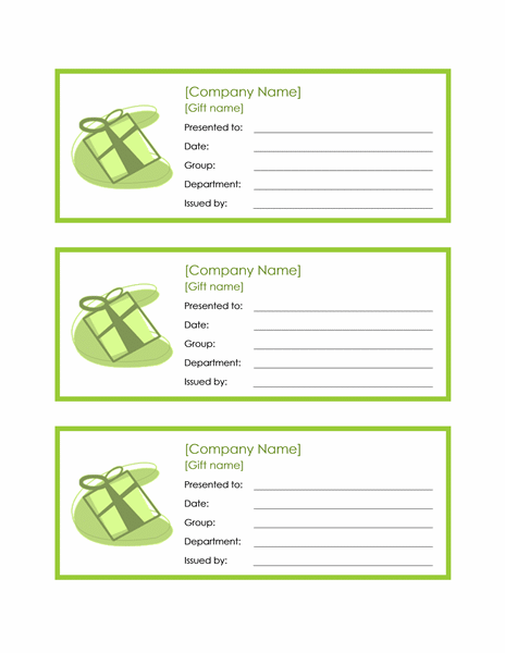 Download Employee Gift Certificate Template