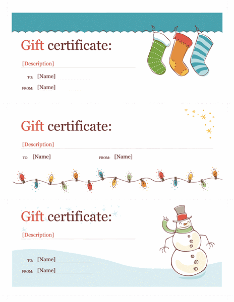 Holiday Gift Certificate Template Template For Word Or Newer - Holiday gift certificate template free
