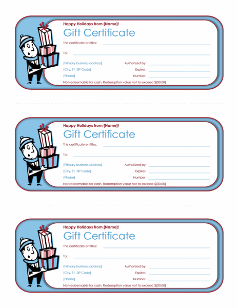 Download Holiday Free Gift Certificate Template