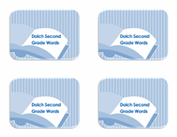 Download Vocabulary 2nd Grade Flash Card Template
