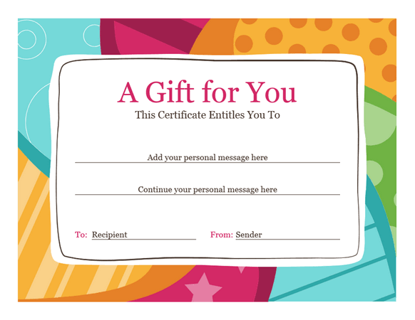 Download Birthday Gift Certificate Template