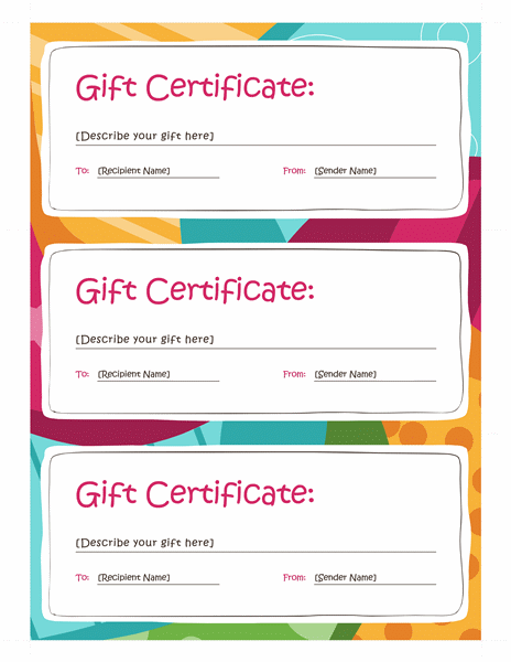 Bright design gift certificate template template for word 2013 or free download bright design gift certificate template templates yelopaper Gallery