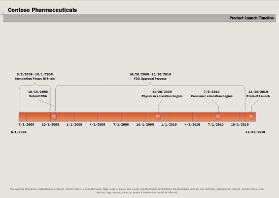 Project Timeline (metric)