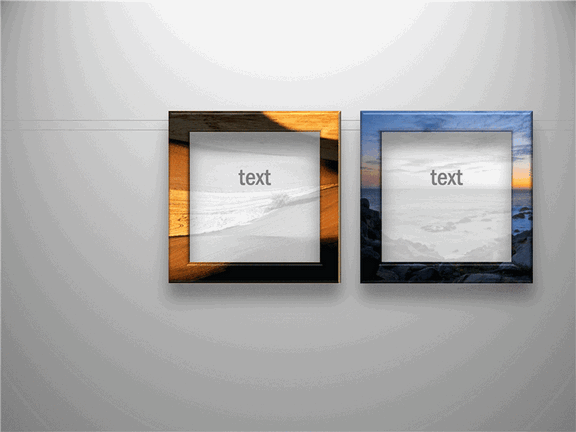 Frames With Faded Pictures And Text