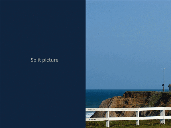 Transition Effect For Split Picture