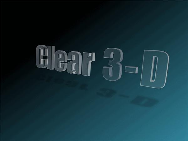 Transparent Floating 3-d Text