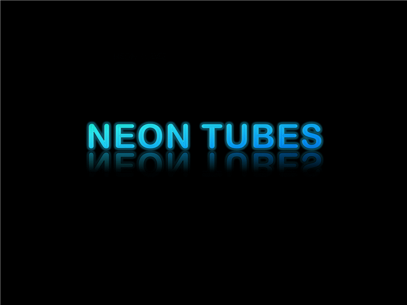 Glowing Neon Text With Reflection