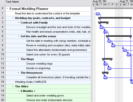 Free Wedding Planner Templates