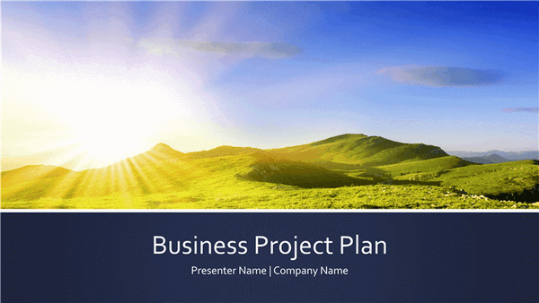 Download Business project plan presentation (widescreen)