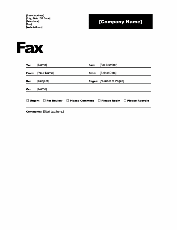 Download Fax Cover