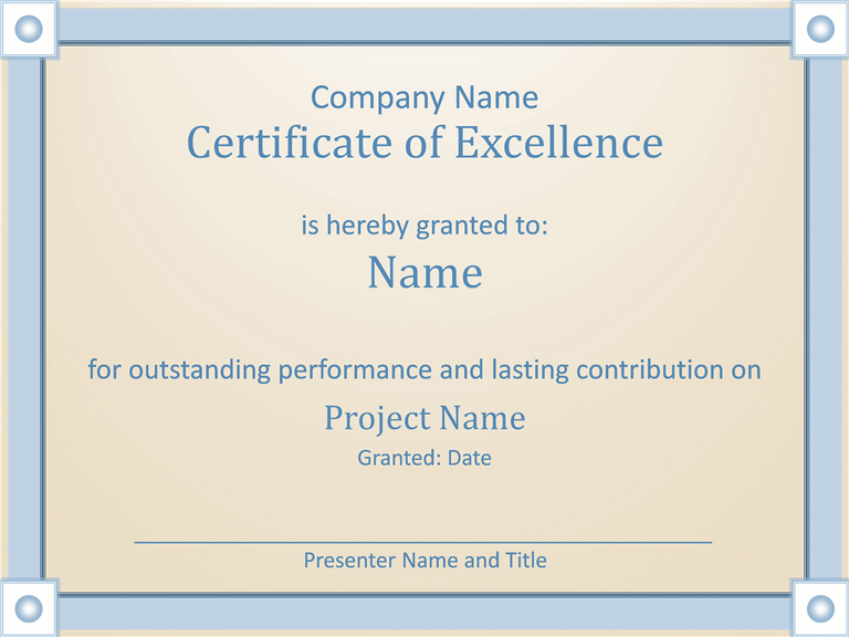 Excellence certificate template yelopaper Gallery