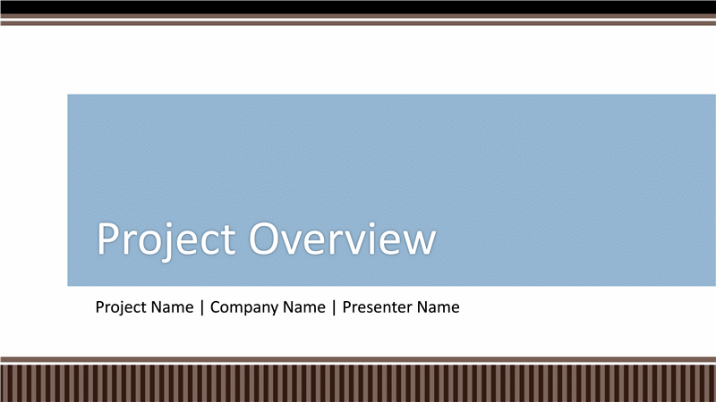 business project planning overview presentation template for, Presentation templates