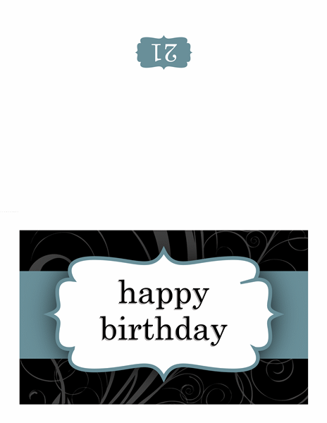 Birthday Card (blue Ribbon Design)