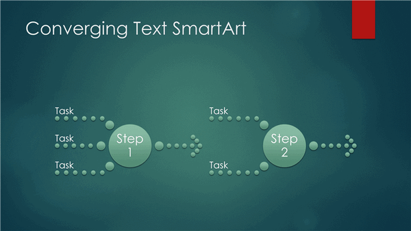 Process Diagram (converging Text, Green Bubble Design, Widescreen)