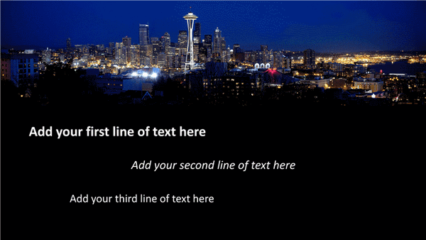 Download Animation slide: Text slides in and fades out over picture (widescreen)