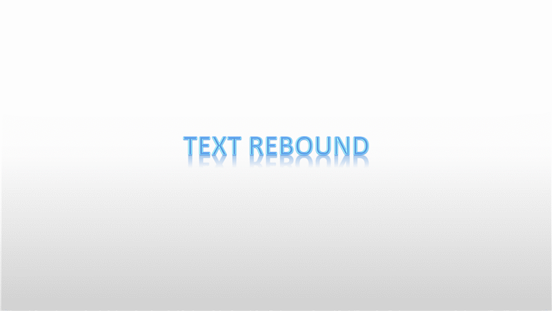 Animation Slide: Rebounding Text (widescreen)