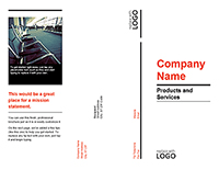 Tri-fold Product Service Company Brochure