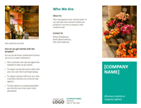 Company Brochure Flowers Design