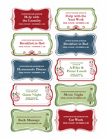 Gift Certificate Template Coupons Classic Design