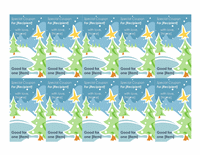 Holiday Gift Coupons Certificate Template