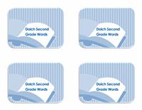 Vocabulary 2nd Grade Flash Card Template