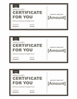 Black And White Gift Certificate Template