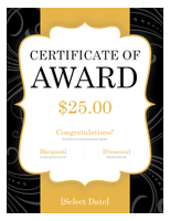 Gift Certificate Template Word Award
