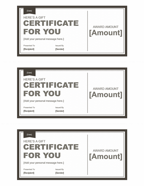 Download Gift Certificate Template Free For Microsoft Office - Microsoft office gift certificate template