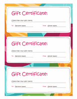 Bright Design Gift Certificate Template