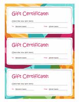 Bright Design Gift Certificate Template